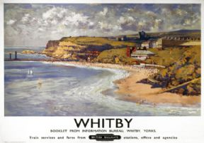 Whitby, Yorkshire. Vintage BR Travel Poster by Gyrth Russell.  British Railways